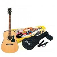 Pack Guitarra acústica Ibanez color natural