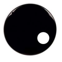 """Parche 18"""" negro 1 capa con agujero"""