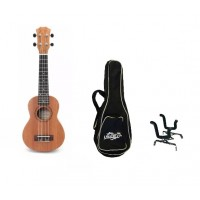 "pack ukelele 21"" + funda y atril"